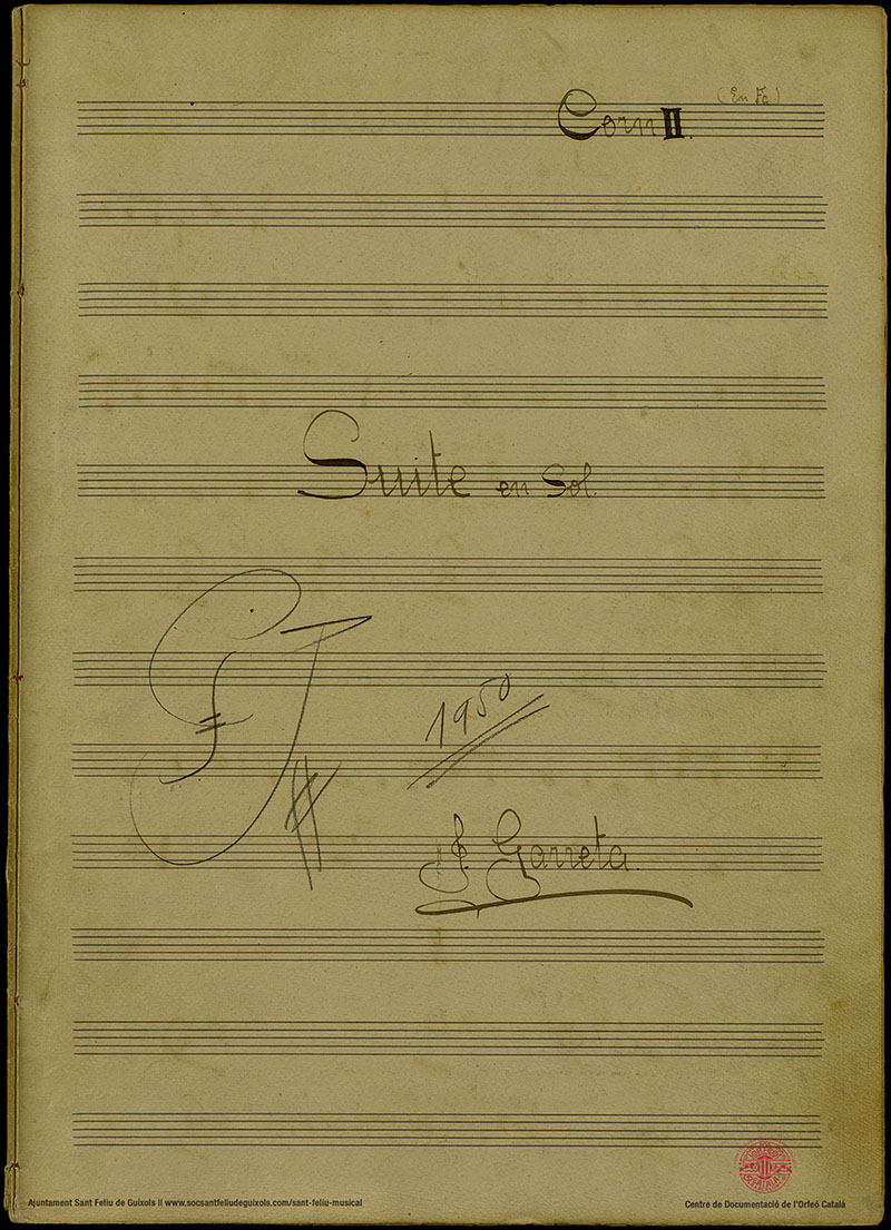 Juli Garreta - Simfonies - Suite en sol major - Corn 02
