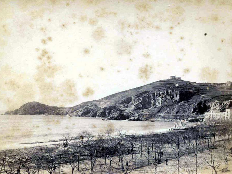 Vista del racó de Garbí l'any 1885 AMSFG. Col·lecció Espuña-Ibáñez (Autor: Jaume Bertran)