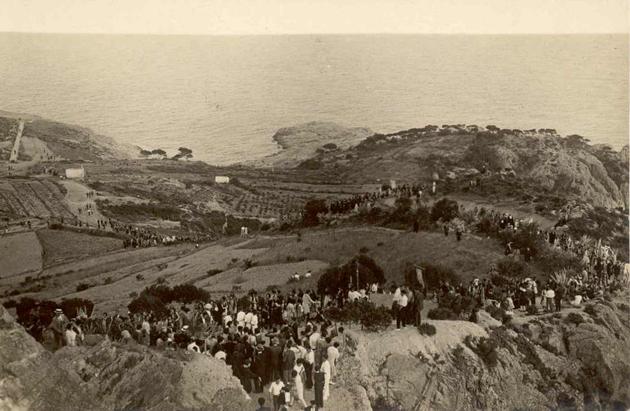 Processó inaugural de la restauració de l'ermita de Sant Elm, 25 de juliol de 1929 AMSFG. Col·lecció Espuña-Ibáñez (Ricard Mur)