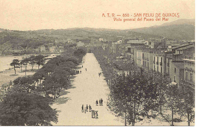 Passeig del mar. Sant Feliu de Guíxols.