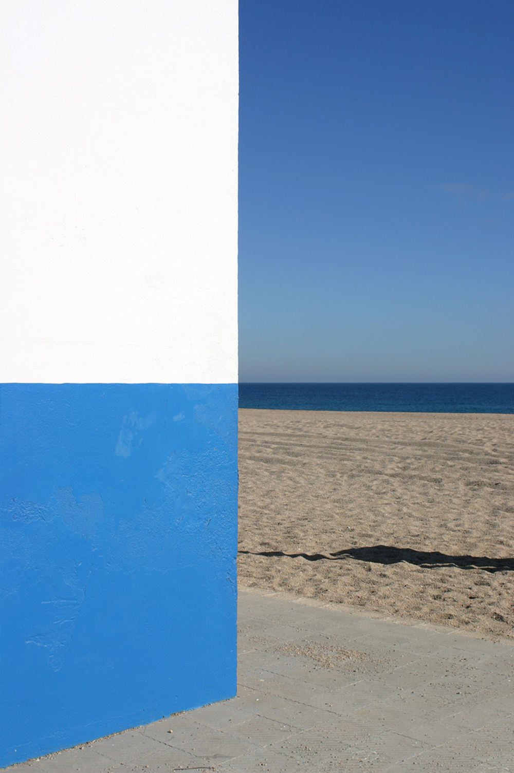 Trevor Skinner Blue beach corner - Sóc Sant Feliu de Guíxols