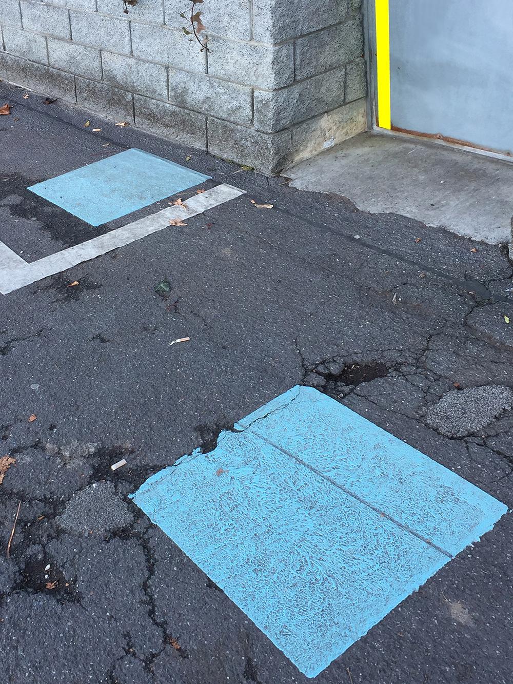 Trevor Skinner Blue squares - Sóc Sant Feliu de Guíxols