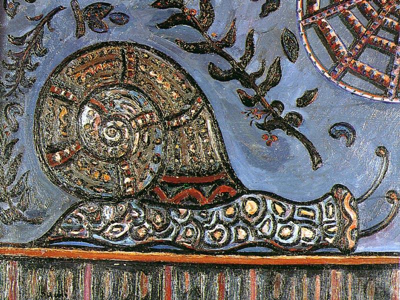 Cargol. 1964. Oli/tela. 66 x 81 cm. Museu d'Història de la Ciutat. Sant Feliu de Guíxols.