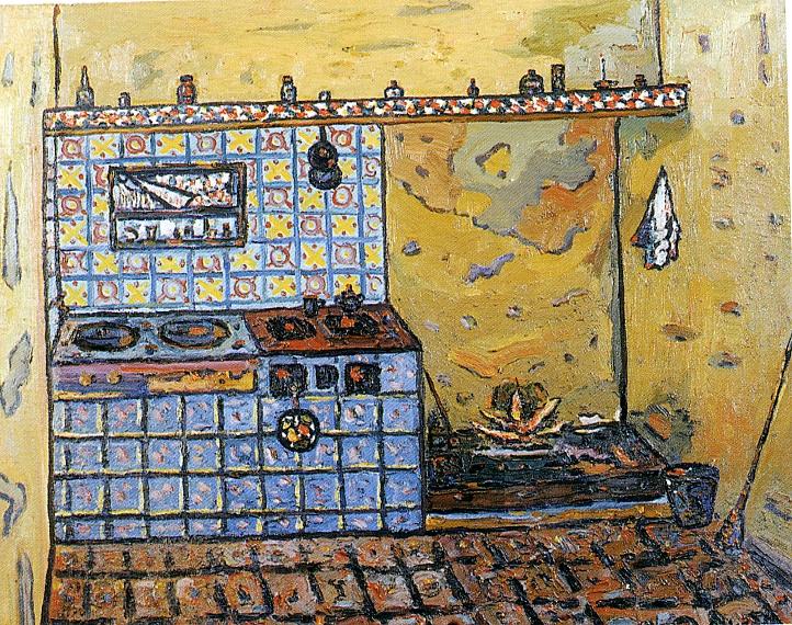 La cuina. 1961. Oli/tela. 60 x 73 cm. Museu d'Història de la Ciutat. Sant Feliu de Guíxols