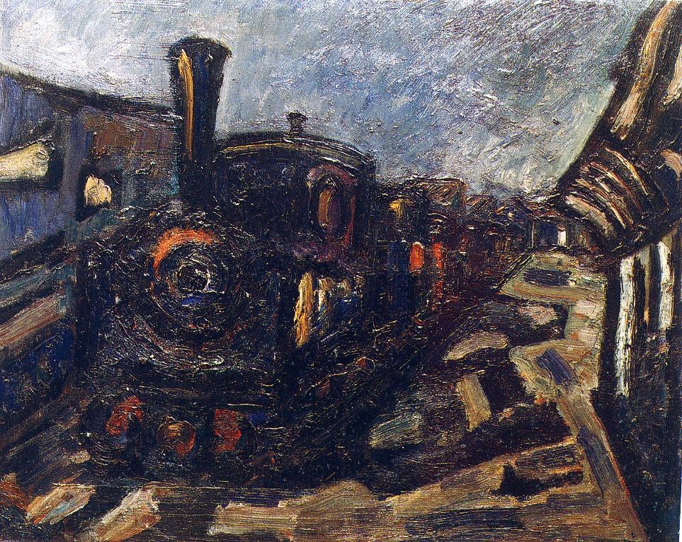 El carrilet. 1968. Oli/tela. 65 x 81 cm. Museu d'Història de la Ciutat. Sant Feliu de Guíxols