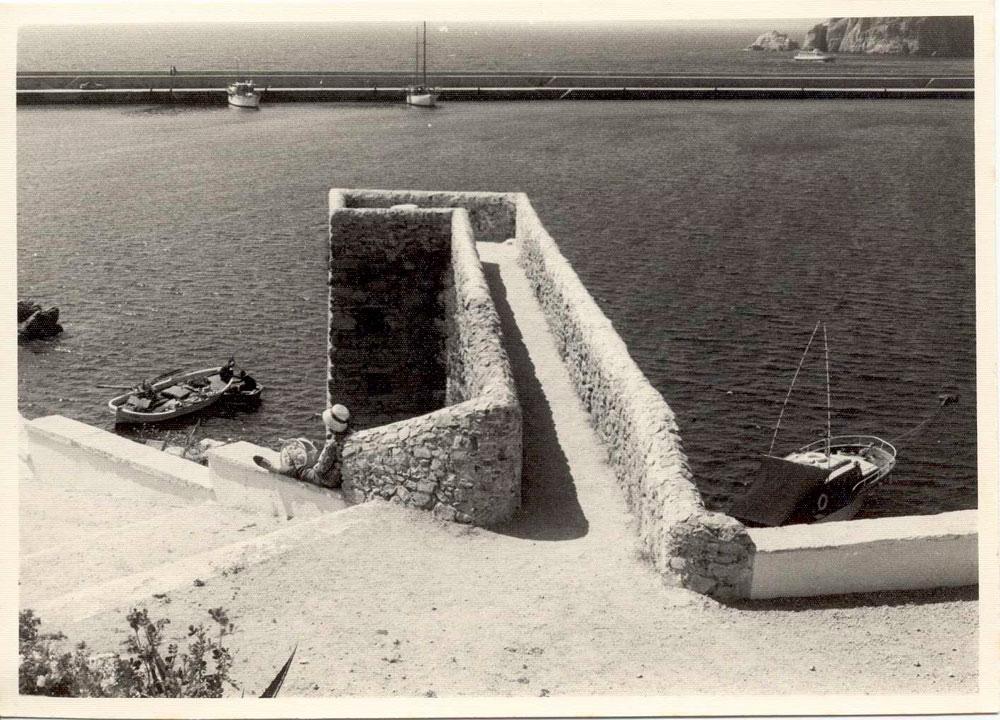 Moll medieval a mitjan anys 60. AMSFG. Col·lecció Municipal d'Imatges (Autor desconegut).