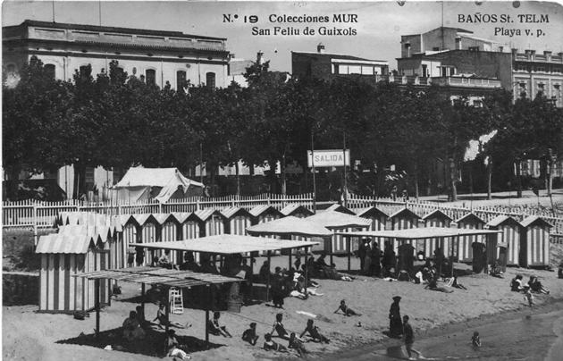 Casetes dels Banys de Sant Elm al racó de garbí (1928). AMSFG. Fons Joan Darder. Autor: Ricard Mur Dargallo.