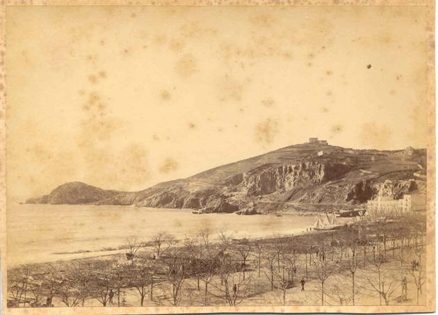 Racó de Garbí i muntanya de Sant Elm el 1885 AMSFG. Col·lecció Espuña-Ibáñez (Autor: Jaume Bertran)