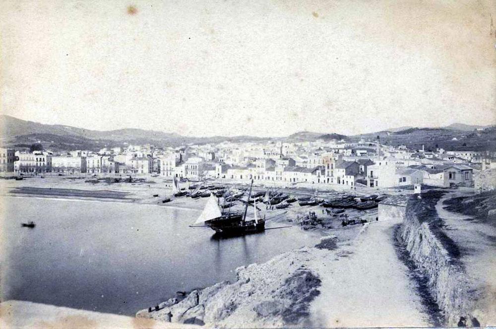 Vista del racó de Llevant entre 1886 i 1887 AMSFG. Col·lecció Espuña-Ibáñez (Autor: Jaume Bertran)