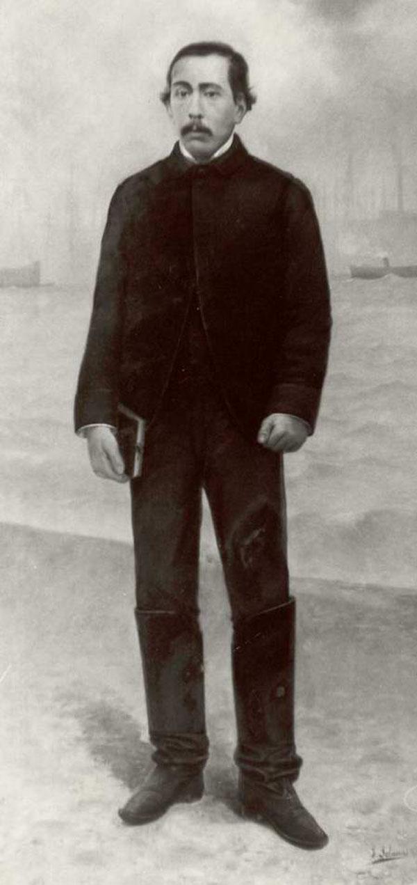 Retrat del capità guixolenc Cosme Calsada Pons de mitjan segle XIX, col·lecció del Museu Marítim de Barcelona. AMSFG. Col·lecció Municipal d'Imatges (Autor desconegut).
