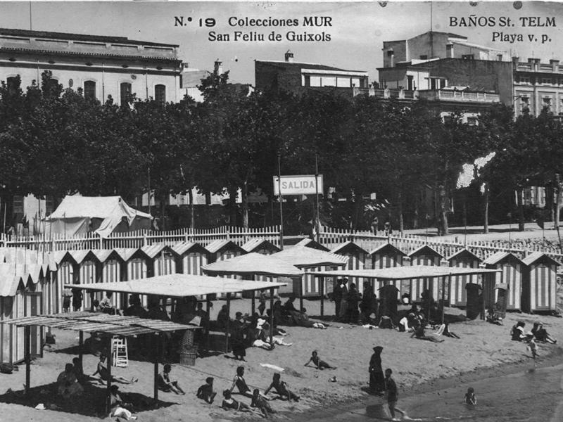 AMSFG. Fons Joan Darder. Autor: Ricard Mur Dargallo. Casetes dels Banys de Sant Elm al racó de garbí (1928).